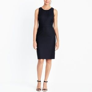 J. Crew Wool Blend Sheath Dress in Navy, 10